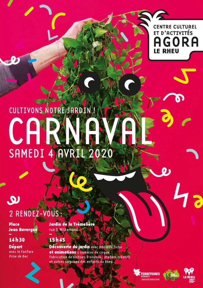 Affiche Carnaval du Rheu 2020